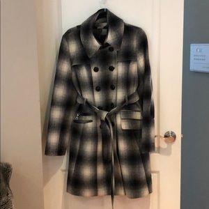 DKNY Long Belted Coat
